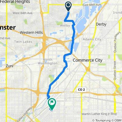 8431 Devonshire Blvd, Denver to 3405 N Downing St, Denver