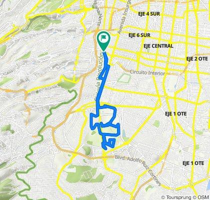 De Avenida Revolución, Ciudad de México a Avenida Río Mixcoac, Ciudad de México