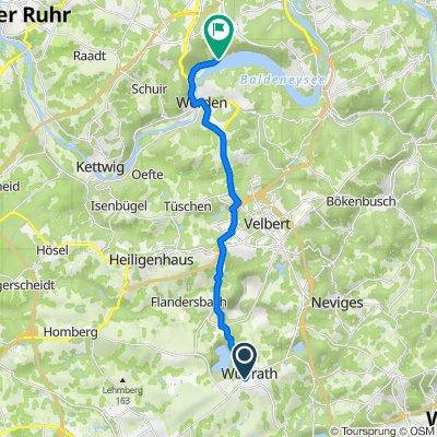 Halfmannstraße 2A, Wülfrath nach Freiherr-vom-Stein-Straße 206E, Essen