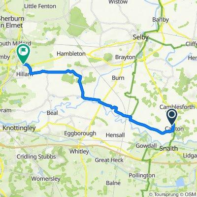 21 Lynwith Lane, Goole to 5–15 Water Lane, Monk Fryston, Leeds