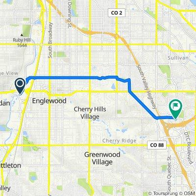 3580 S Platte River Dr, Sheridan to 4333 S Syracuse St, Denver