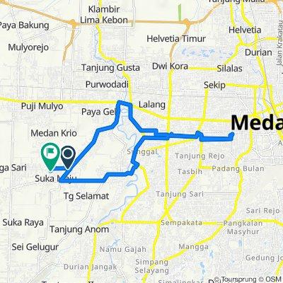 Jalan Jati 4, Kecamatan Sunggal to Jalan Jati 11, Kecamatan Sunggal