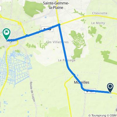 Chaillé-les-Marais Radfahren