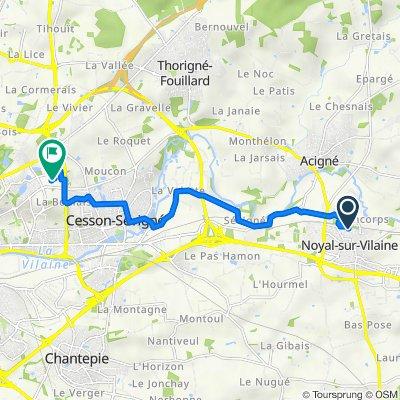 De 21 Rue Antonio Vivaldi, Noyal-sur-Vilaine à 3A Avenue de Belle Fontaine, Cesson-Sévigné
