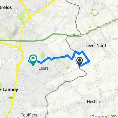 Itinéraire vers 28 Rue Hoche, Leers