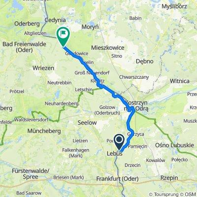 Route nach Zollbrücke 18, Oderaue