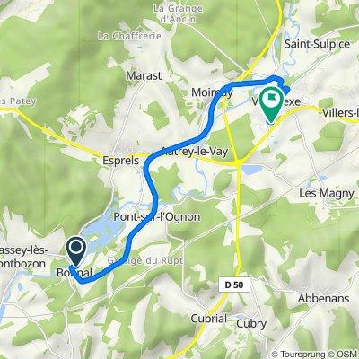 Chemin du Moulin, Bonnal naar 609 Rue du 13 Septembre 1944, Villersexel