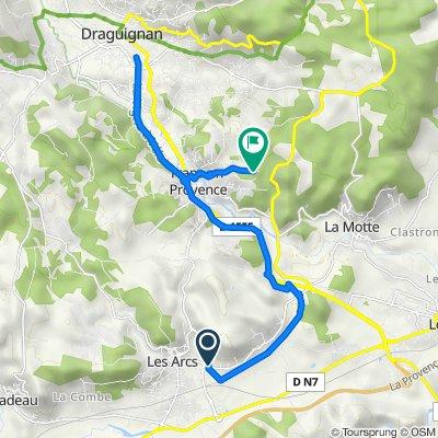 De Route de Sainte-Roseline, Les Arcs à Les Darrots 558, Trans-en-Provence