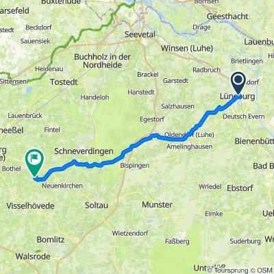 Kaufhausstraße 1–3, Lüneburg nach Moordorf 2–8, Visselhövede