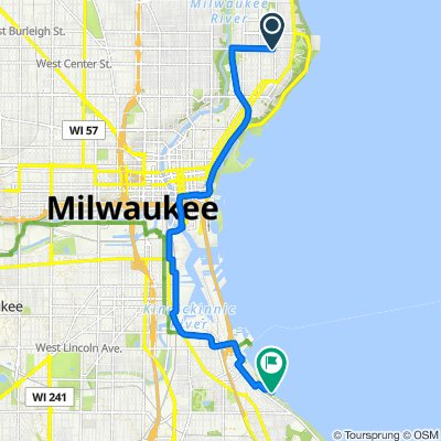2501–2549 E Locust St, Milwaukee to 2934–2946 S Shore Dr, Milwaukee