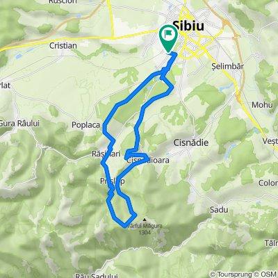 Sibiu - Rasinari - Prislop - Varful - Cisnadiora - Sibiu