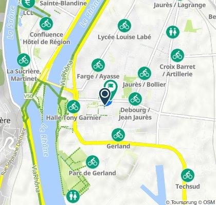 De 11 Rue Jacques Monod, Lyon à 219bis Rue Marcel Mérieux, Lyon