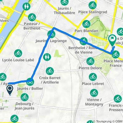De 213 Rue Marcel Mérieux, Lyon à 6 Rue de l'Éternité, Lyon