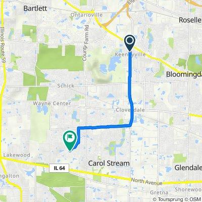 6N442 Gary Ave, Roselle to 3N166 Springvale Rd, Carol Stream