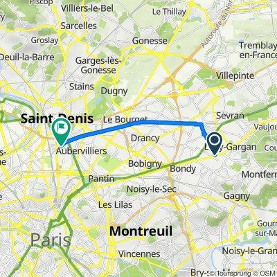 Itinéraire à partir de 19 Avenue Quesnay, Livry-Gargan