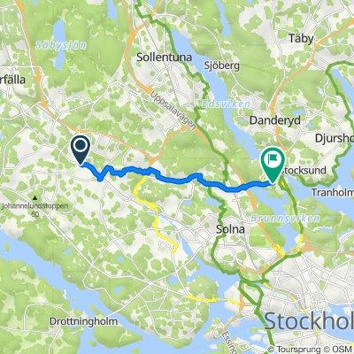 Ankarsrumsgatan 41, Stockholm to Barks väg 15, Solna