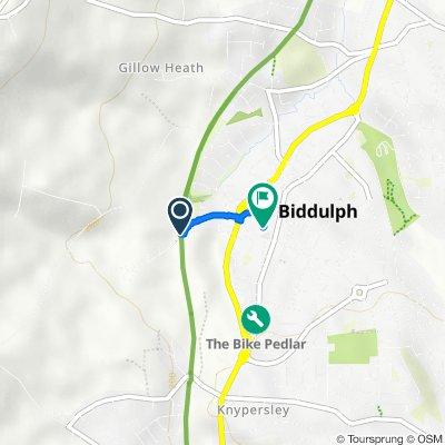 Biddulph Valley Way, Biddulph, Stoke-On-Trent to Home Bargains, Wharf Road, Stoke-On-Trent