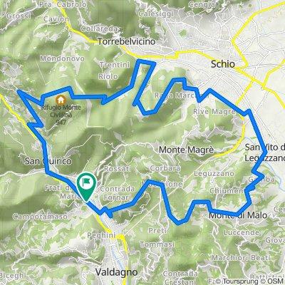 Da Via C. Battisti 1, Valdagno a Viale dei Lanifici 28, Valdagno