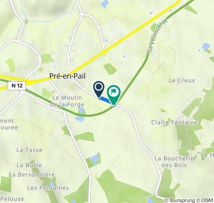 De 1T Rue Sainte-Anne, Pré-en-Pail à 6090 Route de Saint-Pierre-des-Nids, Pré-en-Pail
