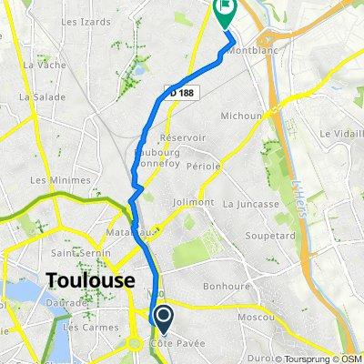 De 65 Rue Louis Vitet, Toulouse a 8 Rue Georges Ohnet, Toulouse
