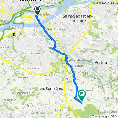 De 1 Allée des Hélices, Nantes à 3 La Maison Neuve, Les Sorinières