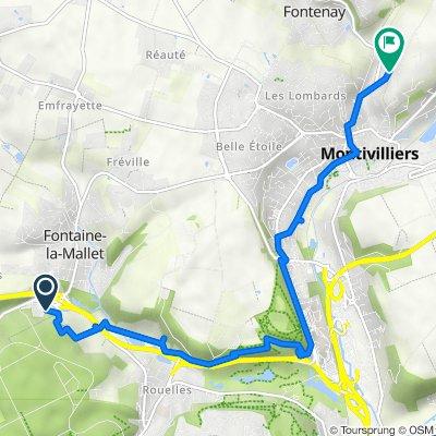 De Avenue 5, Fontaine-la-Mallet à 13 Chemin de Nerval, Montivilliers