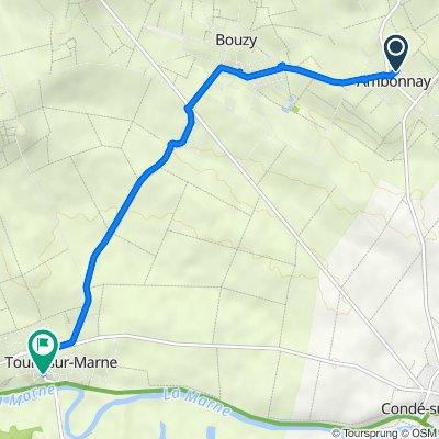 10 Rue des Templiers, Ambonnay naar 3–23 Rue du Magasin, Tours-sur-Marne