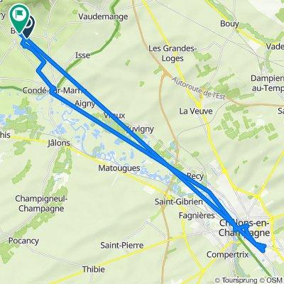 De 36–38 Rue du Moulin, Bouzy à 1 Place de la Mairie, Bouzy