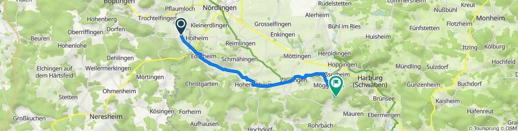 Weilerstraße 3, Riesbürg nach Eisbrunn 1, Harburg (Schwaben)