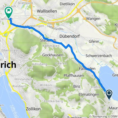 Schuepwisweg, Maur to Dörflistrasse 107, Zürich