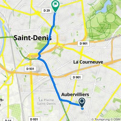 64 Avenue de la République, Aubervilliers to 12 Rue David Siqueiros, Saint-Denis