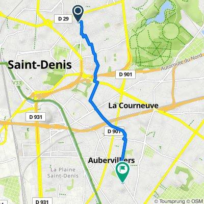 De 12 Rue David Siqueiros, Saint-Denis à 64 Avenue de la République, Aubervilliers