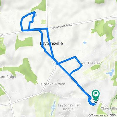 20308 Wiley Ct, Gaithersburg to 6138–6338 Olney Laytonsville Rd, Gaithersburg