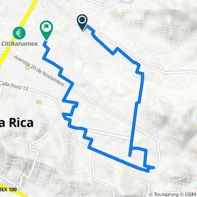De Avenida Independencia 1001–1003, Poza Rica de Hidalgo a Avenida 10 601–615, Poza Rica de Hidalgo