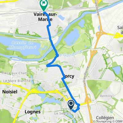 Itinéraire vers Avenue Henri Barbusse, Vaires-sur-Marne