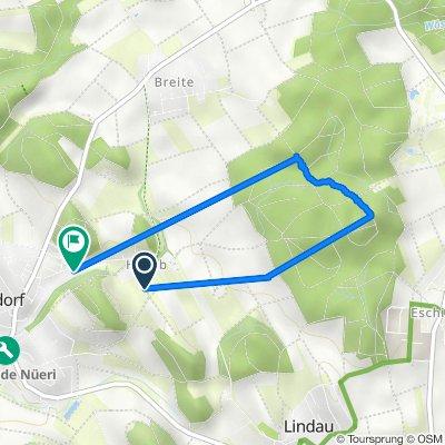Hakberg 8, Nürensdorf to Hakabstrasse 22, Nürensdorf