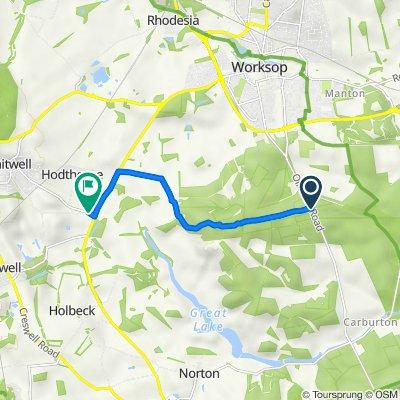 Drinking Pit Lodge, Sparken Hill, Worksop to Bonheur, Mill Wood Lane, Worksop