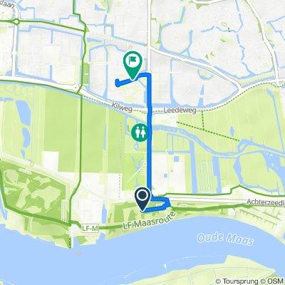Route naar Haarspitwei 7, Barendrecht