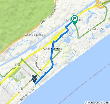 303 75th Ave N, Myrtle Beach to 9676 N Kings Hwy, Myrtle Beach