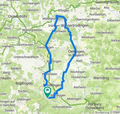 MTB-Tour von Ederheim zum Hesselberg&zurück