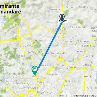 De Rodovia da Uva 3941 a Rua Doutor Nelsom de Souza Pinto 1096