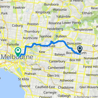 545 Middleborough Road, Box Hill North to 188 Collins Street, Melbourne