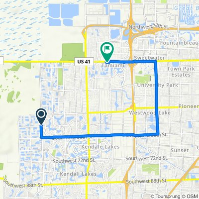 SW 157th Ave, Kendall West to 12700 SW Eighth St, Miami