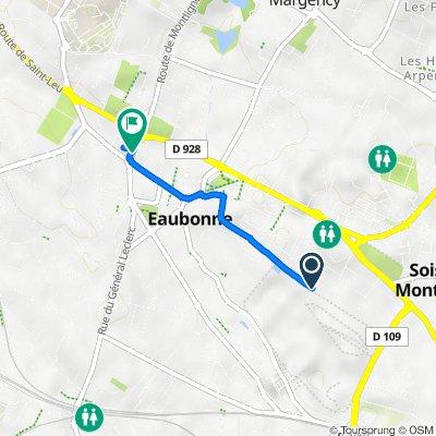 De 40 Avenue Jean Jaurès, Soisy-sous-Montmorency à 1 Avenue de Matlock, Eaubonne