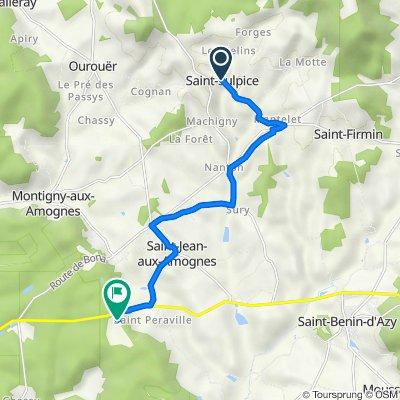 De D258, Saint-Sulpice à Les Haies de ville 94, Saint-Jean-aux-Amognes