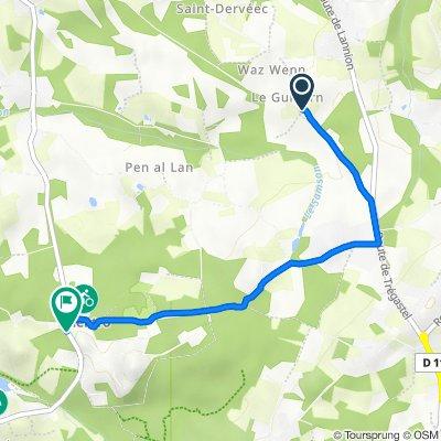 Route de Guidern, Trégastel to 25 Route du Radome, Pleumeur-Bodou