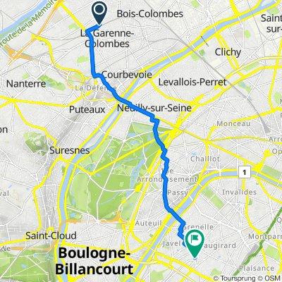 De 82 Avenue Anatole France, Colombes à 216ter Rue de la Croix Nivert, Paris