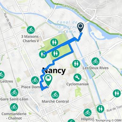 De 27bis Rue de l'Abbé Lemire, Nancy à 4 Rue Saint-Jean, Nancy