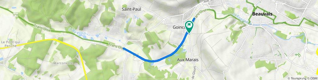 De Rue Jean Jaurès 32, Goincourt à Rue Jean Jaurès 32, Goincourt