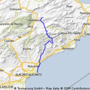 Cabo de las Huertas-Almudaina por Tudons